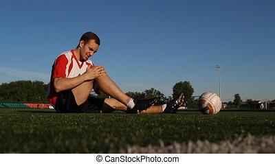 Player's leg got hurt, pain in leg, sprain - Player had...