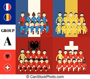Players with flags GROUP A