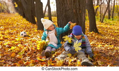 Playful Children - Charming kids playing in the park...