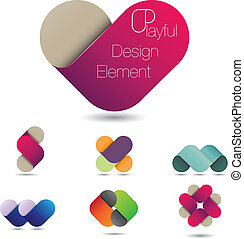 Playful design element - Colorful vector design element that...
