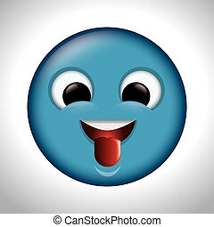 playful emoticon tongue out icon