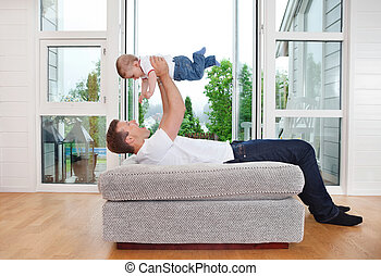 Playful Father with Child