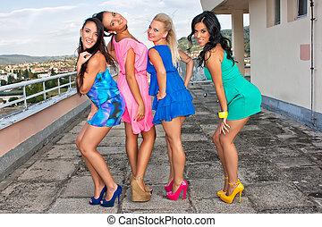 Playful girls