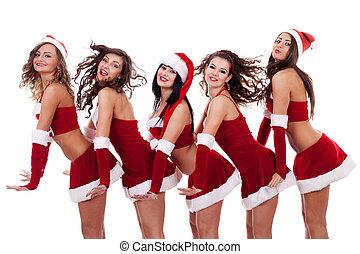young santa women