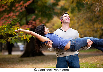Playful Healthy Relationship - A playful couple - man ...
