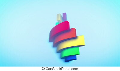 """Playful Rainbow Arces in Blue Backdrop"""