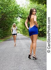 Playful women
