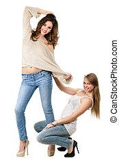Playful young women