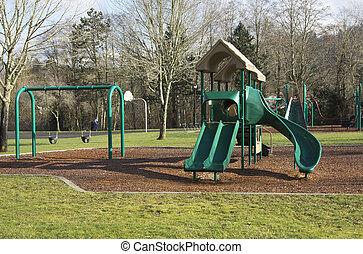 Playgorund in a park.