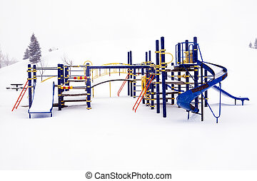 Playground after the snow.