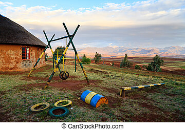 Playground at a school in Africa - Playground at a school in...