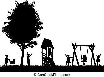 playground., bambini