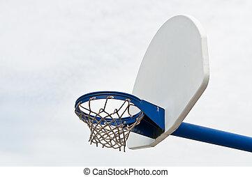 Playground Basketball Hoop and Backboard - A basketball hoop...