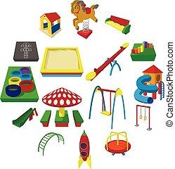 Playground cartoon icons