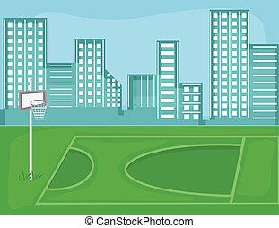 Playground City Vector Background