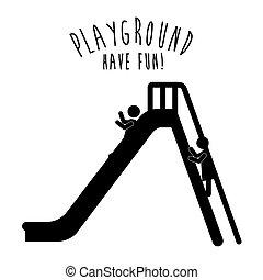 Playground design, vector illustration. - Playground design ...