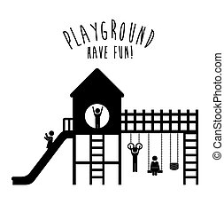 Playground design,vector illustration. - Playground design...