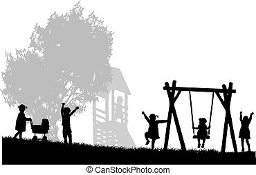 playground., dzieci