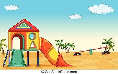 Playground - Outdoor children acitivty with playset