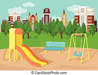 Playground. Vector flat illustration