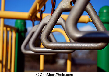 Playground equipment - Climbing toys at a playground against...