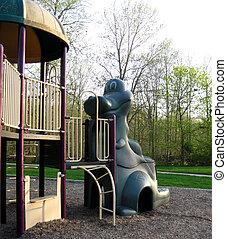 Playground Equipment - Dinosaur and structure for children's...