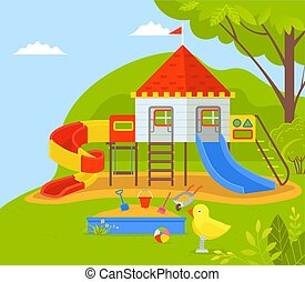 Playground for Kids, Children Dreamland in Park