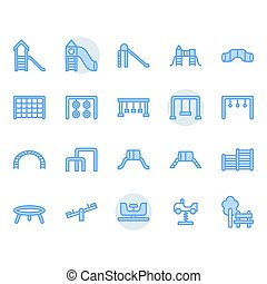 Playground icon and symbol set