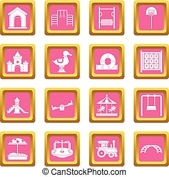 Playground icons pink