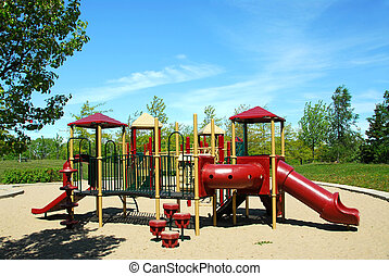 Playground in a city park