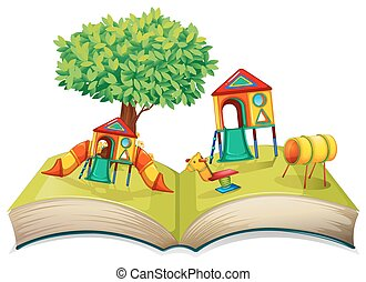 Playground in the storybook