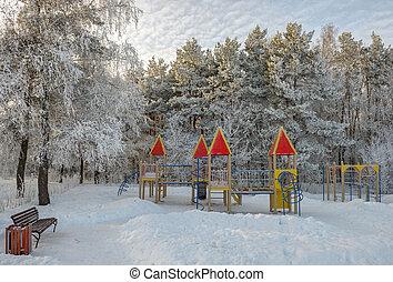 Playground in winter park