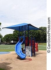 Playground is Empty at School