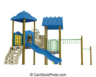 Playground isolated on white background