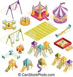 Playground Isometric Collection - Playground isometric...