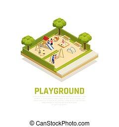 Playground Isometric Concept