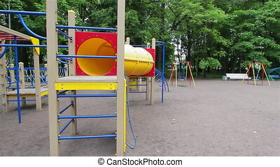Playground, short obstacle course, steady smooth motion