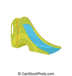 Playground slide vector Illustration on a white background