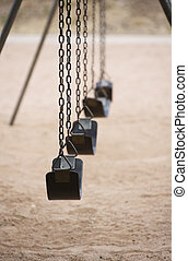 Playground Swings - Old style playground swings with chains...