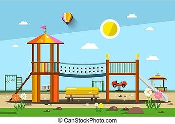 Playground. Vector City Park.