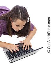 playin , μικρός , laptop , κορίτσι