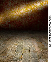 playing area in a dark style - Artistic interiors - a scene...