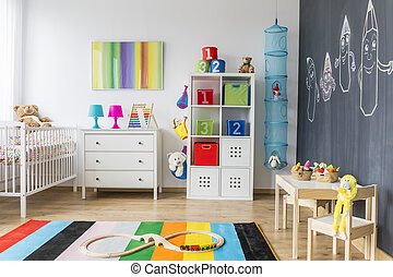 Playing area of a baby room