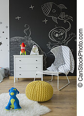 Playing area of boy room