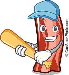 Playing baseballPlaying baseball ribs character cartoon...