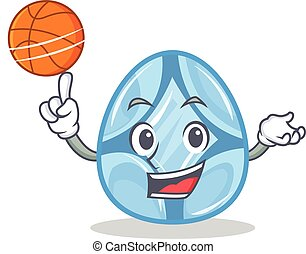 Playing basketball diamond character cartoon style