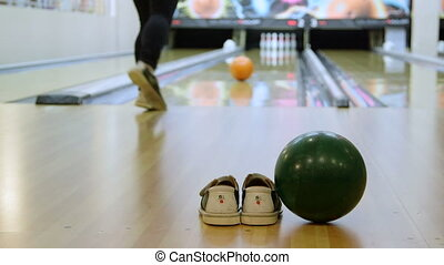 Playing bowling