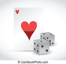 playing card and dices illustration design