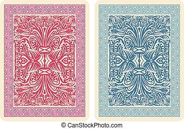 Playing Card Back Designs. Vector Illustrator eps 10.
