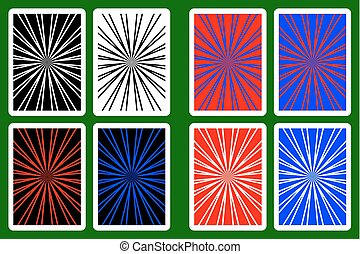 Playing card back designs. Red and blue custom poker cards ...